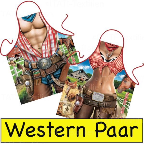 Schürzen Kombination Western Paar Pferdefreunde
