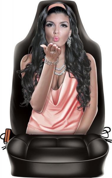 Sitzbezüge Autositzüberzug Sitzschoner Rückenlehnenbezug bedruckt mit Motiv Kissing Girl