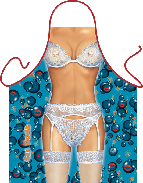 Dessous Schürze Sexbombe ITATI-Textilien (GR-29627) www.itati-shop.de