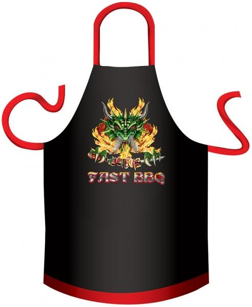 Grillschürze - BBQ Drache (Baumwolle)