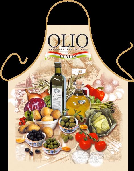 Olivenöl Küchenschürze ITATI-Textilien (GR-19514) www.itati-shop.de
