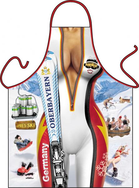 Lustige Schürze Ski Frau Oberbayern