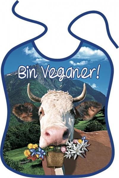 Lätzchen für Erwachsene Alpenkuh Bin Veganer