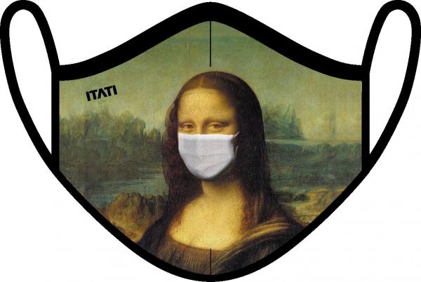 AIR Maske zertifiziert mit Mona Lisa Aufdruck