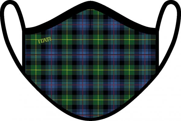 AIR Maske zertifiziert mit Schottischem Muster Blau