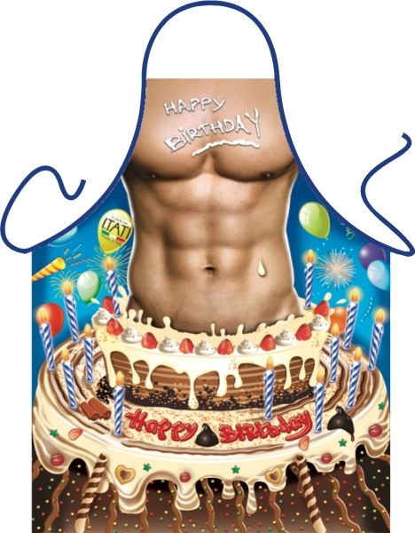 Happy Birthday Mann Geburtstagsschürze ITATI-Textilien (GR-35231) www.itati-shop.de
