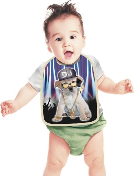 Lätzchen DiscJokey DJ-Hund Baby ITATI-Textilien