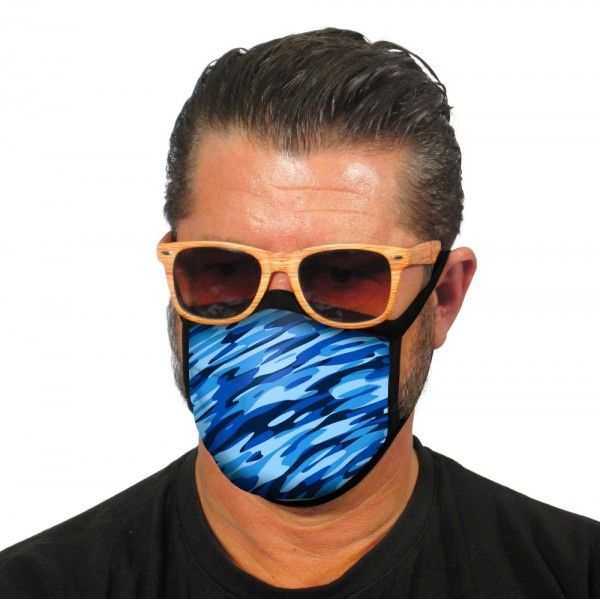 Gesichtsmaske Atemmaske Camouflage Blau - itati-shop.de