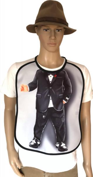 Lustiges Lätzchen für erwachsene Männer Motiv Mafioso Gentleman Anzug