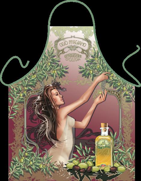 Olivenernte Kochschürze ITATI-Textilien (GR-28723) www.itati-shop.de