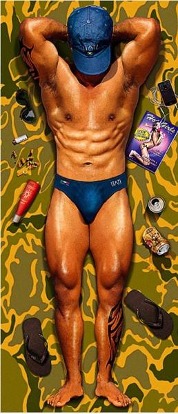 Strandtuch - Sexy Man