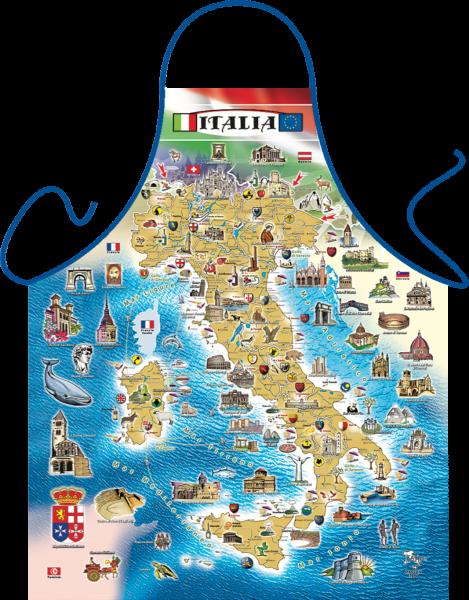 Schürze - Landkarte Italien
