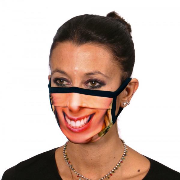 Gesichtsmaske Lächelnde Frau