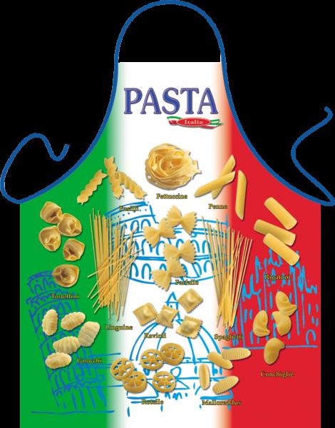 Pasta Tricolore Nudel Schürze ITATI-Textilien (GR-18708) www.itati-shop.de