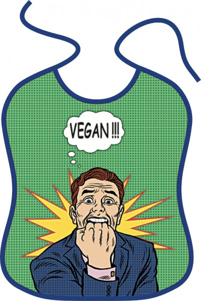Lustiges Lätzchen für Erwachsene - Vegan!!!