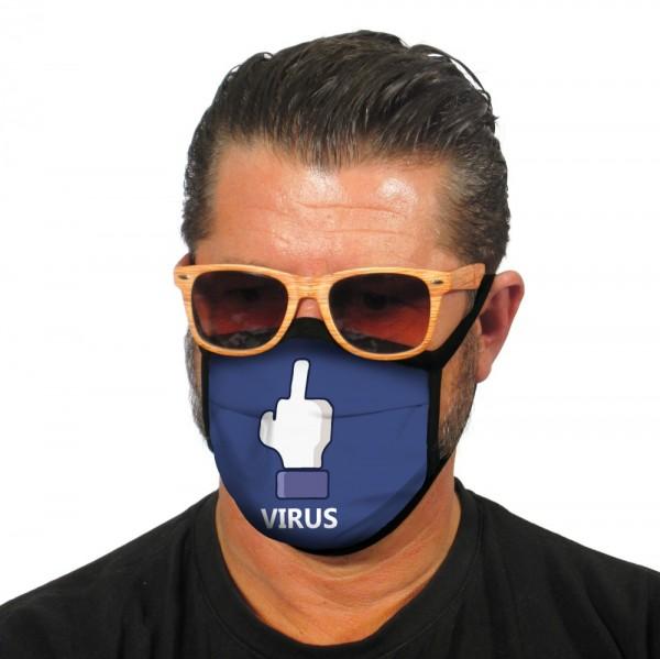 Stoffmaske Gesichtsmaske F...you Virus